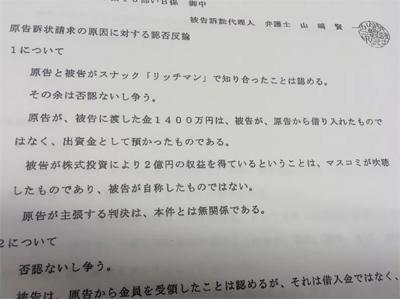 ウルフ村田(村田美夏)の裁判書類